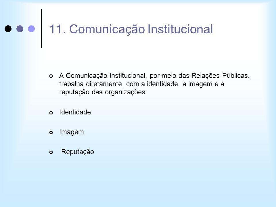 A Comunicação institucional, por meio das Relações Públicas, trabalha diretamente com a identidade, a imagem e a reputação das organizações: Identidad