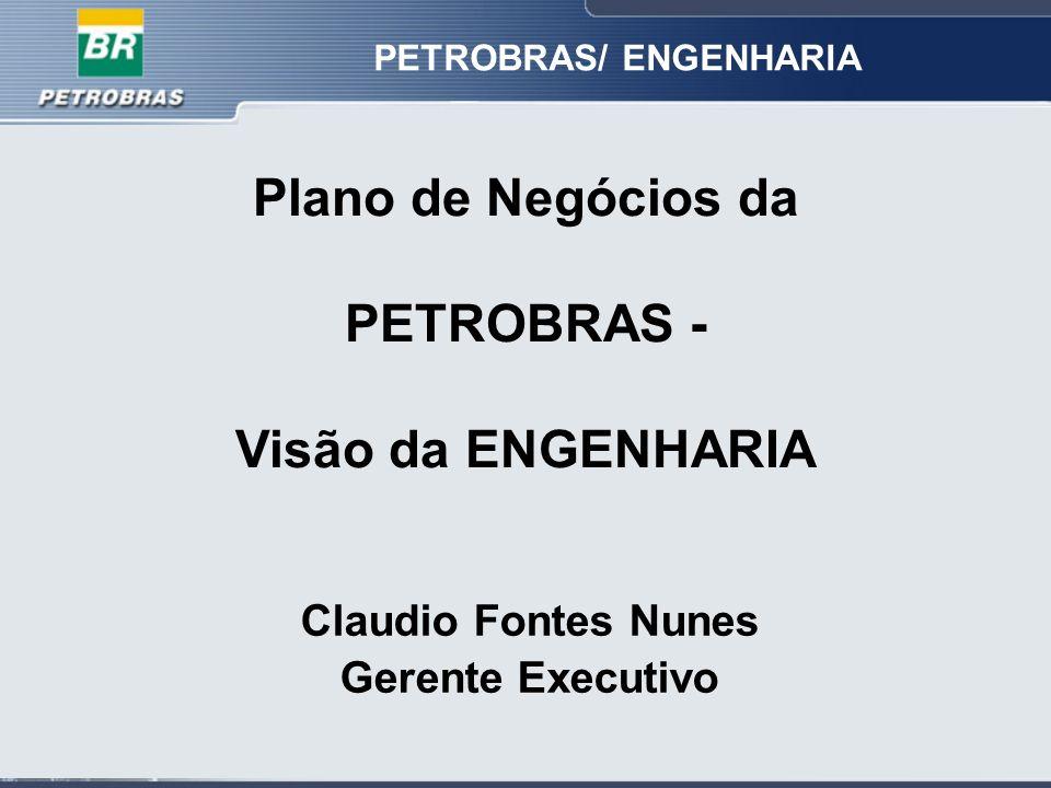 Plano de Negócios da PETROBRAS - Visão da ENGENHARIA PETROBRAS/ ENGENHARIA Claudio Fontes Nunes Gerente Executivo