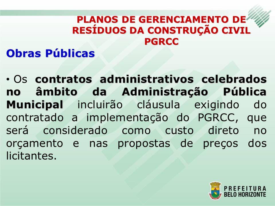 Obras Públicas contratos administrativos celebrados no âmbito da Administração Pública Municipal Os contratos administrativos celebrados no âmbito da