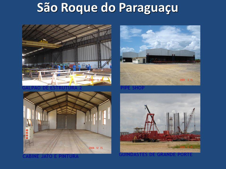 GALPÃO DE ESTRUTURA 2 CABINE JATO E PINTURA PIPE SHOP GUINDASTES DE GRANDE PORTE