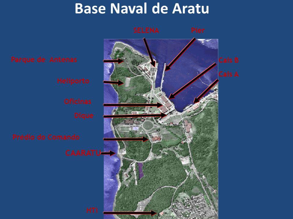 Prédio do Comando Dique Heliporto Cais B PíerSELENA Cais A Parque de Antenas HTI CAARATU Oficinas