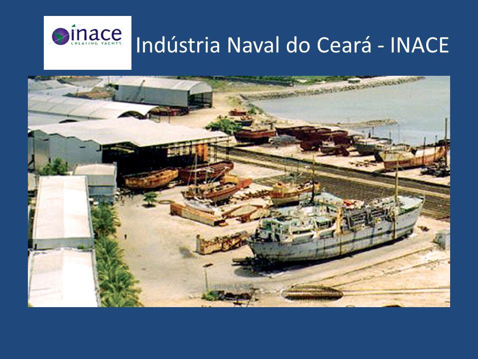 O estaleiro Inace, fundado em 1965, está instalado em Fortaleza, Ceará.