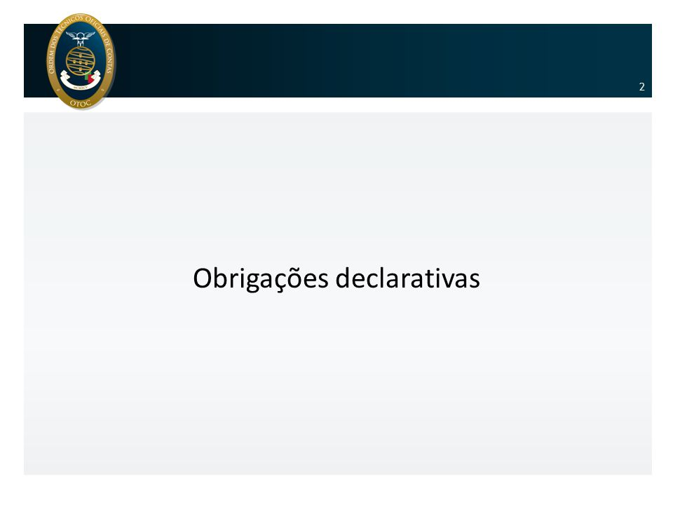 Obrigações declarativas 2