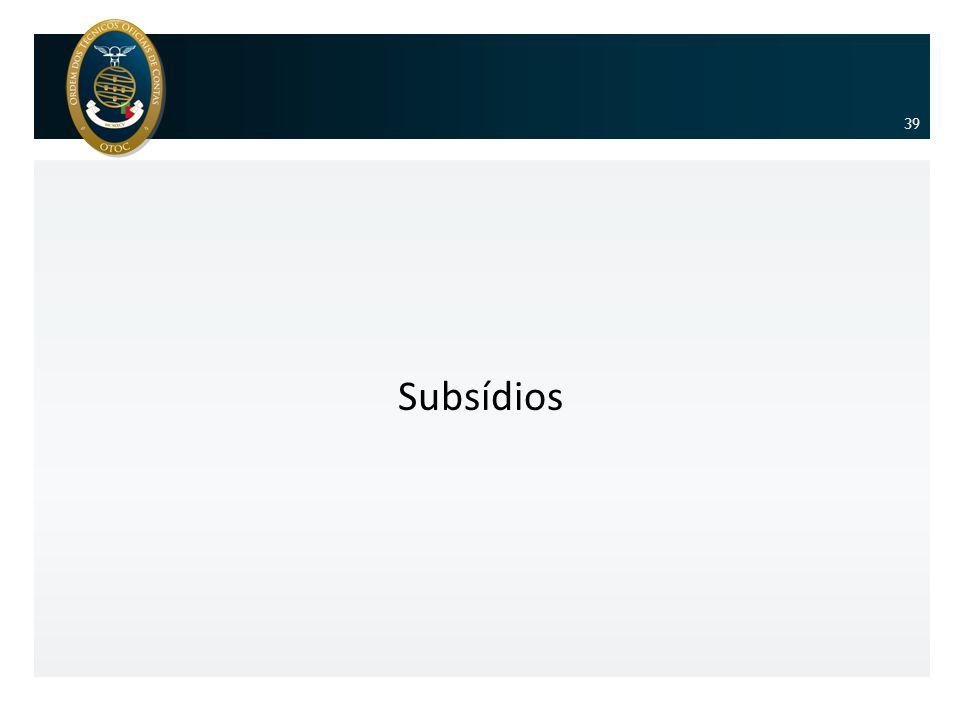 Subsídios 39