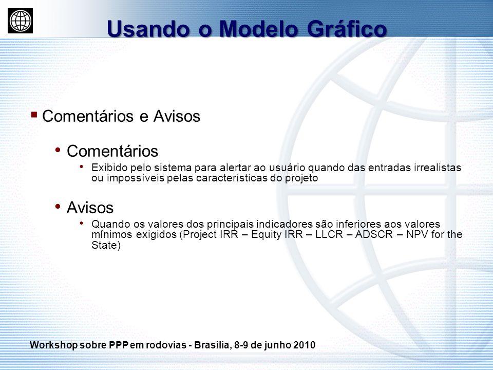Comentários e Avisos Comentários Exibido pelo sistema para alertar ao usuário quando das entradas irrealistas ou impossíveis pelas características do