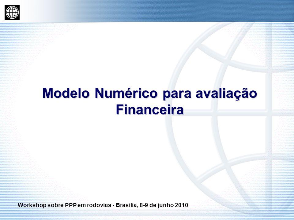 Modelo Numérico para avaliação Financeira Workshop sobre PPP em rodovias - Brasilia, 8-9 de junho 2010