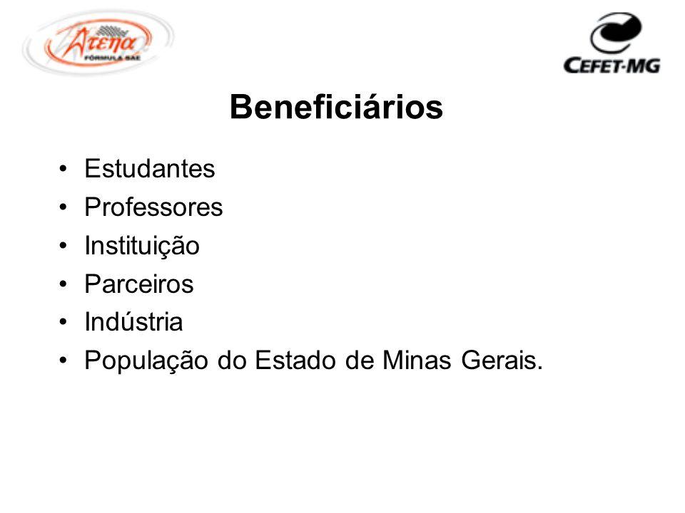 Beneficiários Estudantes Professores Instituição Parceiros Indústria População do Estado de Minas Gerais.