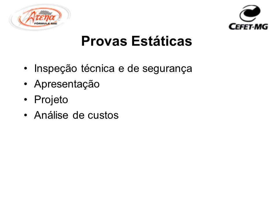 Provas Estáticas Inspeção técnica e de segurança Apresentação Projeto Análise de custos