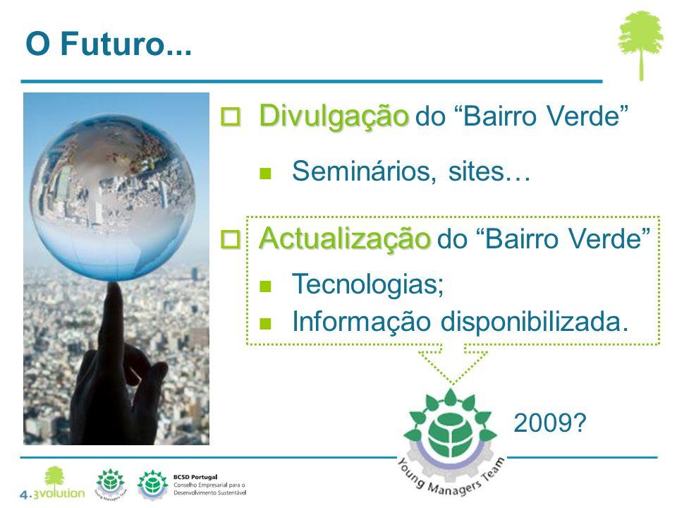 O Futuro...Divulgação Divulgação do Bairro Verde Seminários, sites… 2009.