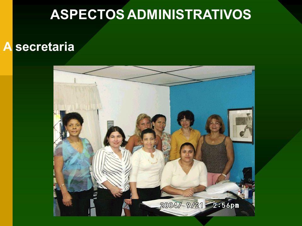 ASPECTOS ADMINISTRATIVOS A secretaria