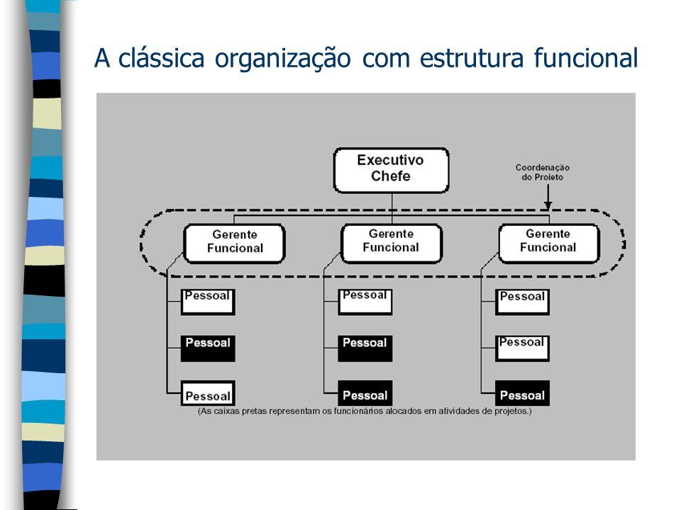 A clássica organização com estrutura funcional