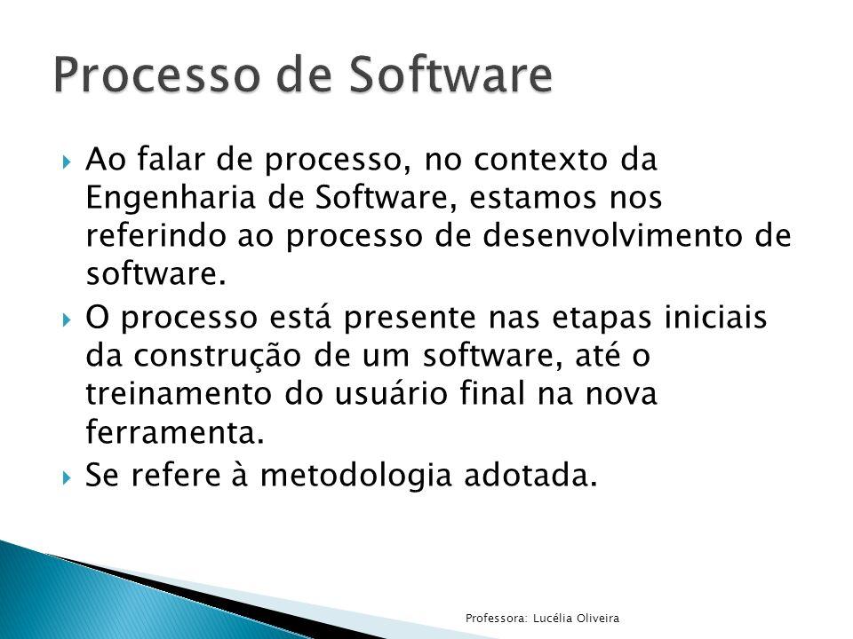 Ao falar de processo, no contexto da Engenharia de Software, estamos nos referindo ao processo de desenvolvimento de software. O processo está present