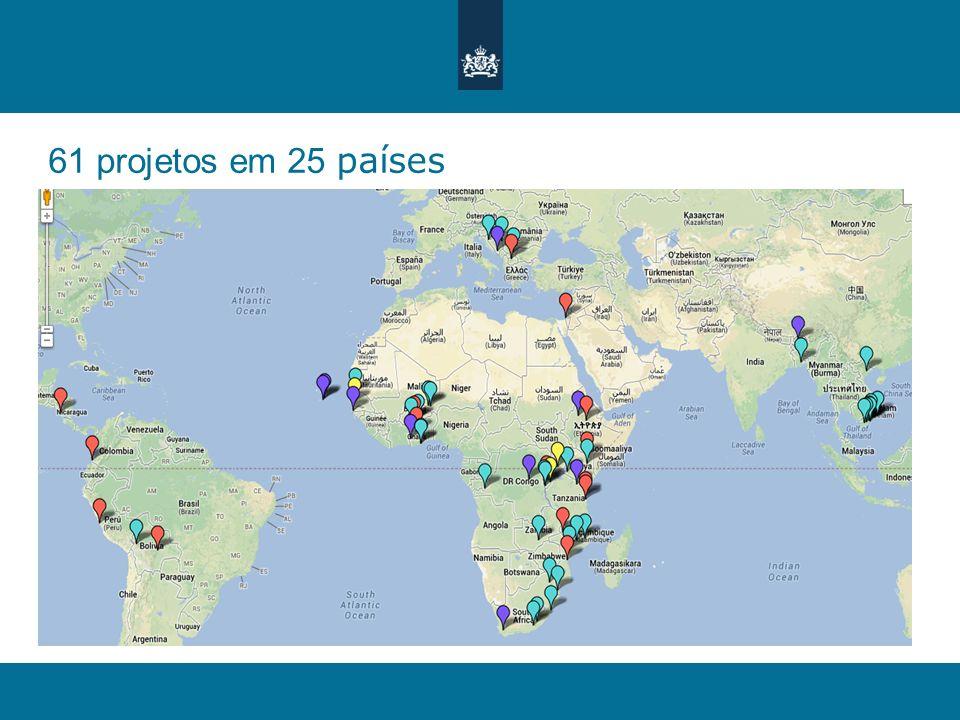 61 projetos em 25 países