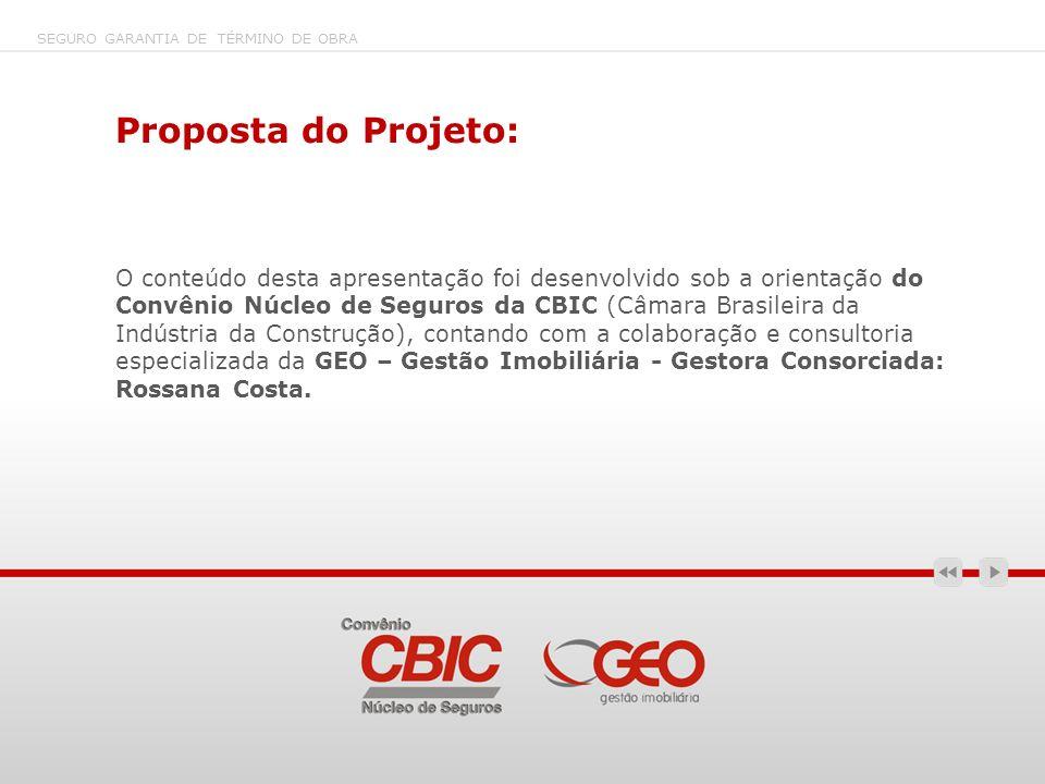 SEGURO GARANTIA DE TÉRMINO DE OBRA Proposta do Projeto: O conteúdo desta apresentação foi desenvolvido sob a orientação do Convênio Núcleo de Seguros