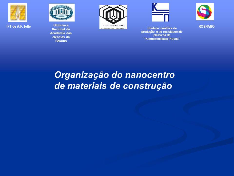 Organização do nanocentro de materiais de construção IFT de A.F. Ioffe Biblioteca Nacional da Academia das ciências da Belarus Unidade científica de p