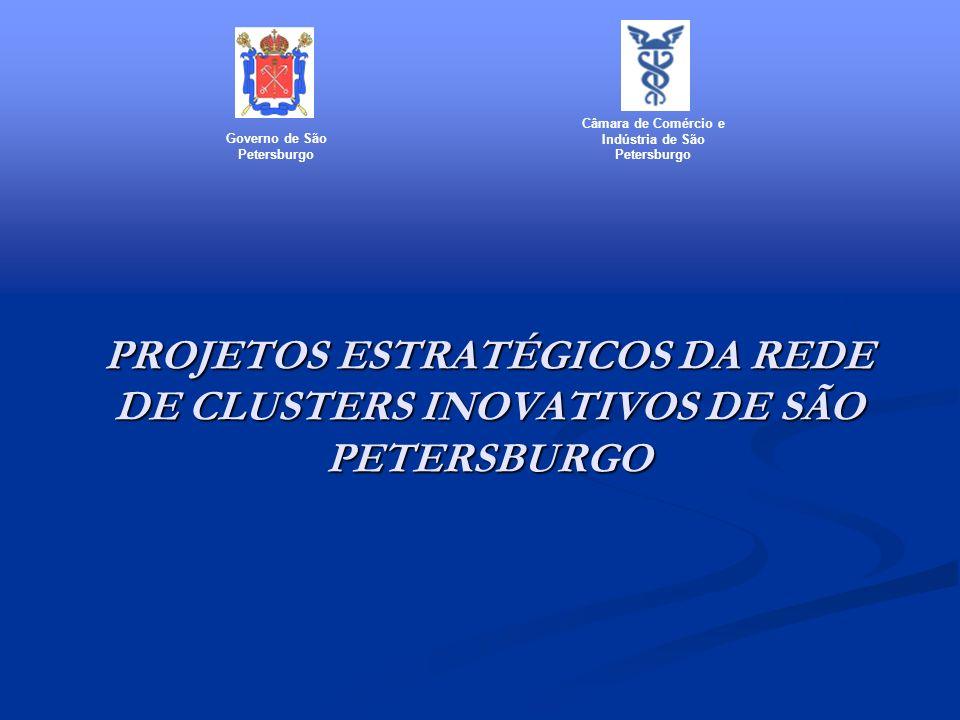 PROJETOS ESTRATÉGICOS DA REDE DE CLUSTERS INOVATIVOS DE SÃO PETERSBURGO Governo de São Petersburgo Câmara de Comércio e Indústria de São Petersburgo