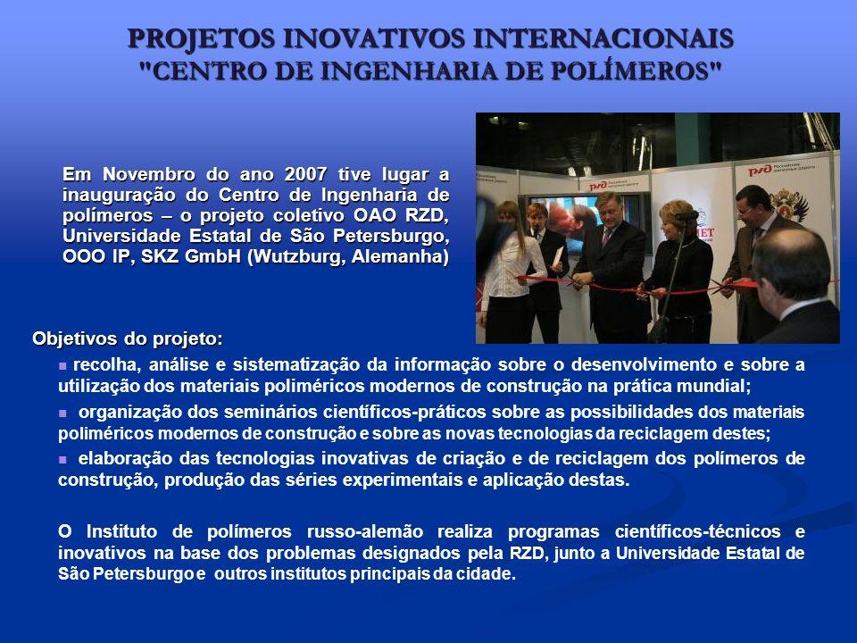 PROJETOS INOVATIVOS INTERNACIONAIS