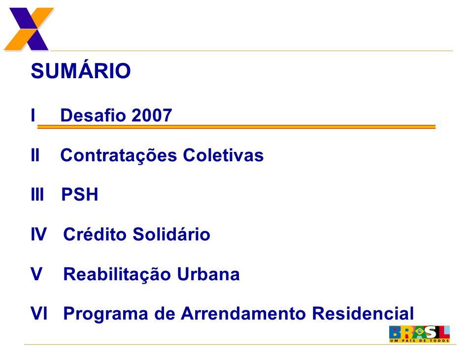 BRASIL - DÉFICIT HABITACIONAL URBANO QUANTITATIVO DESAFIO 2007 Fonte: Fundação João Pinheiro...