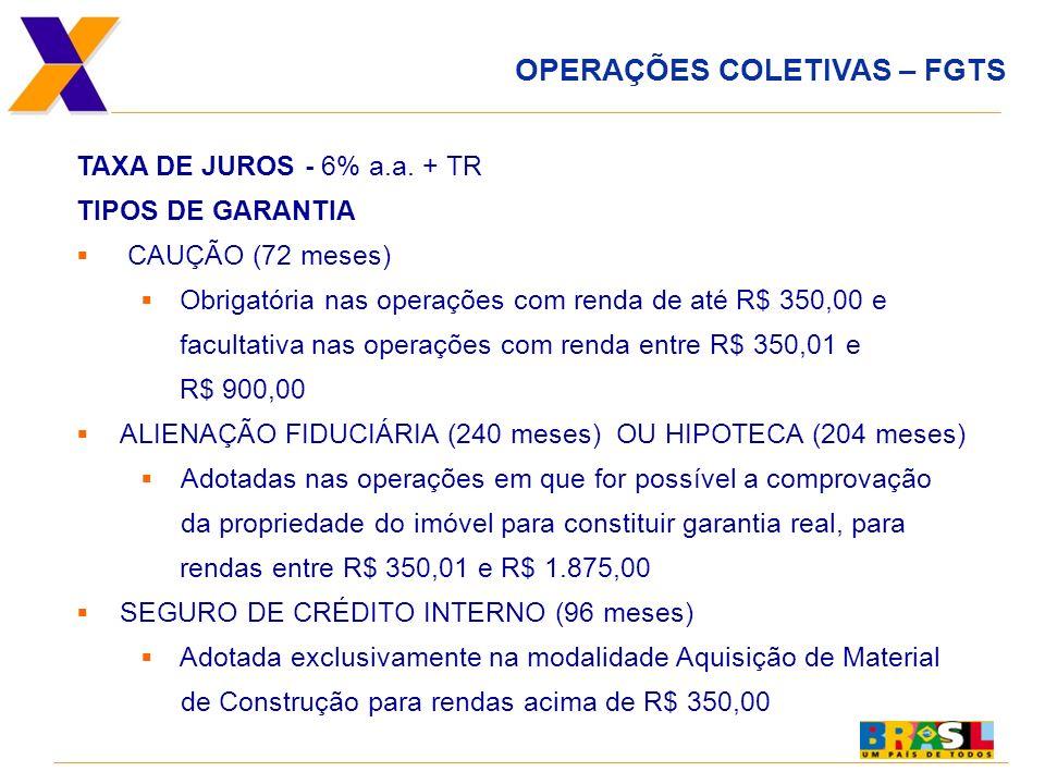 REABILITAÇÃO URBANA O QUE É Programa com recursos do FGTS, com participação de Entidade Organizadora sem incidência de juros, destinado a famílias com renda de até R$ 3.900,00.