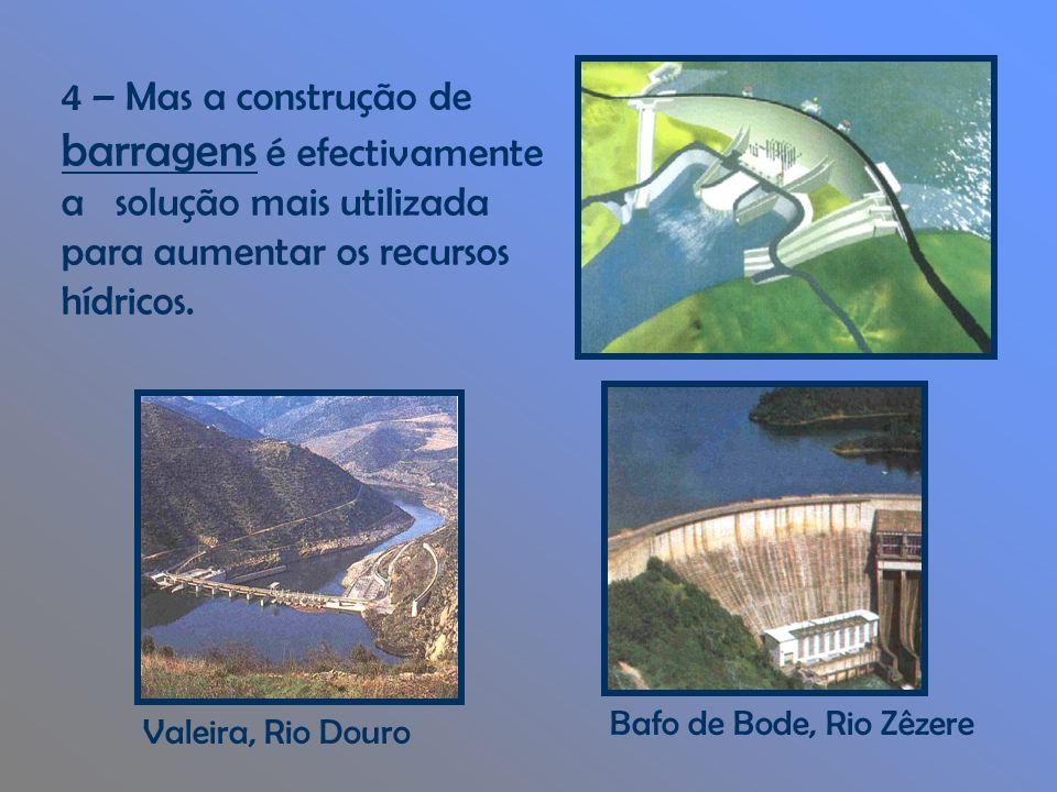 4 – Mas a construção de barragens é efectivamente a solução mais utilizada para aumentar os recursos hídricos.