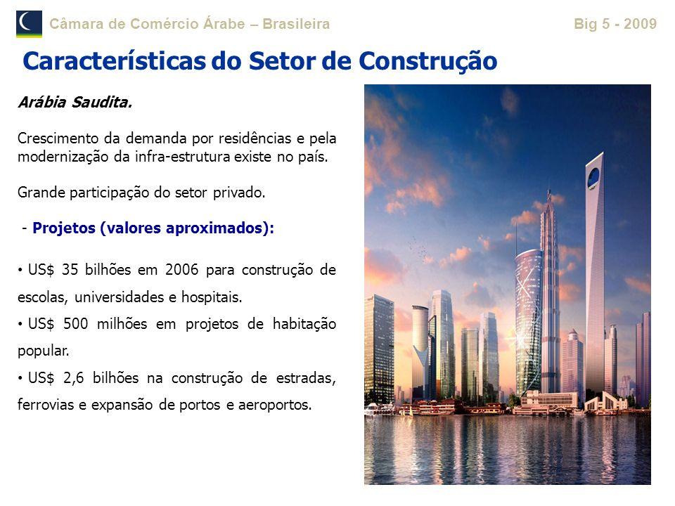Câmara de Comércio Árabe – BrasileiraBig 5 - 2009 Arábia Saudita. Crescimento da demanda por residências e pela modernização da infra-estrutura existe