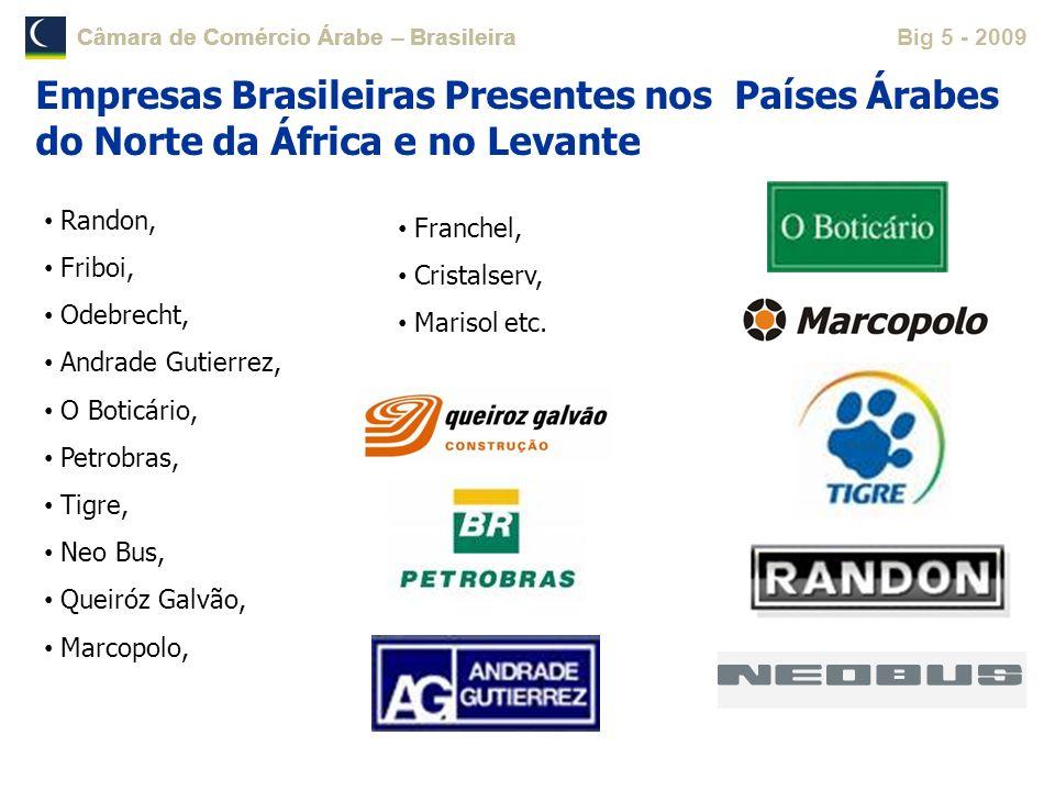 Câmara de Comércio Árabe – Brasileira Big 5 - 2009Câmara de Comércio Árabe – Brasileira Randon, Friboi, Odebrecht, Andrade Gutierrez, O Boticário, Pet