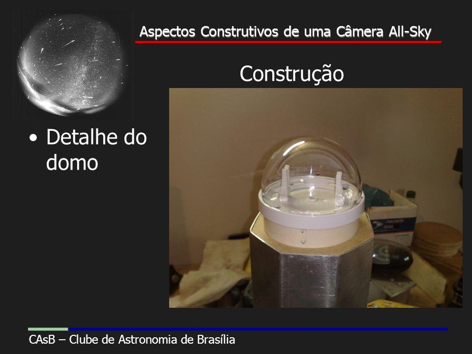 Aspectos Construtivos de uma Câmera All-Sky CAsB – Clube de Astronomia de Brasília Aspectos Construtivos de uma Câmera All-Sky Construção Detalhe do domo