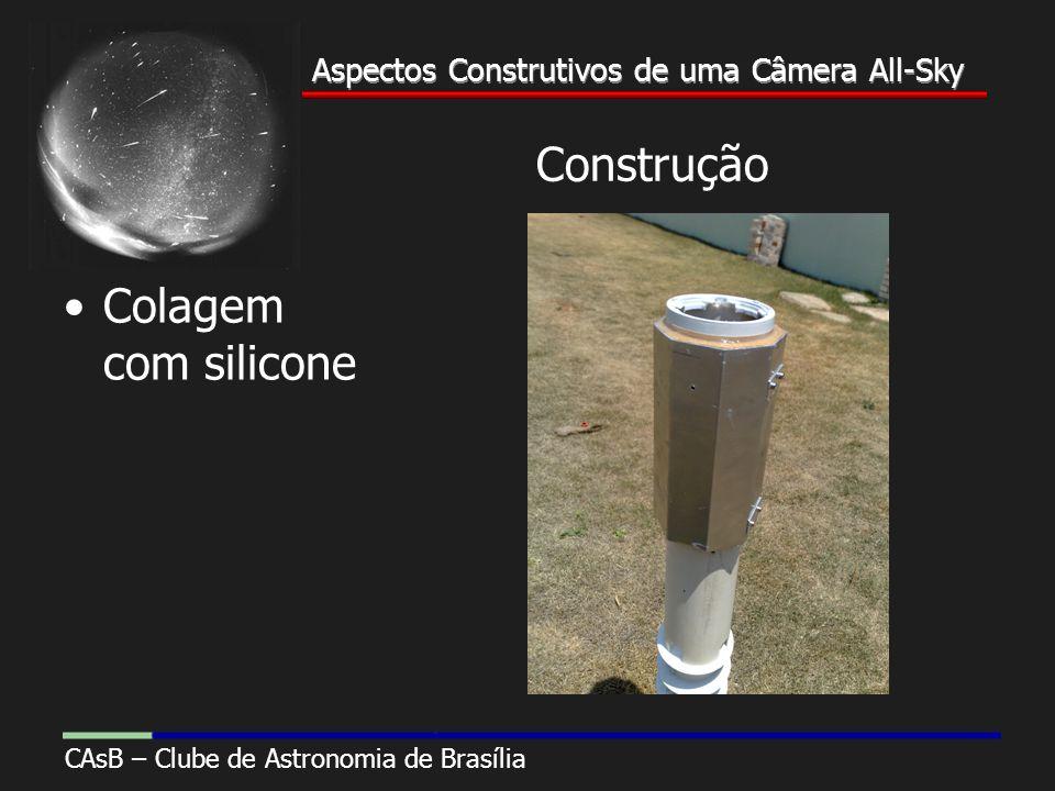 Aspectos Construtivos de uma Câmera All-Sky CAsB – Clube de Astronomia de Brasília Aspectos Construtivos de uma Câmera All-Sky Construção Colagem com silicone