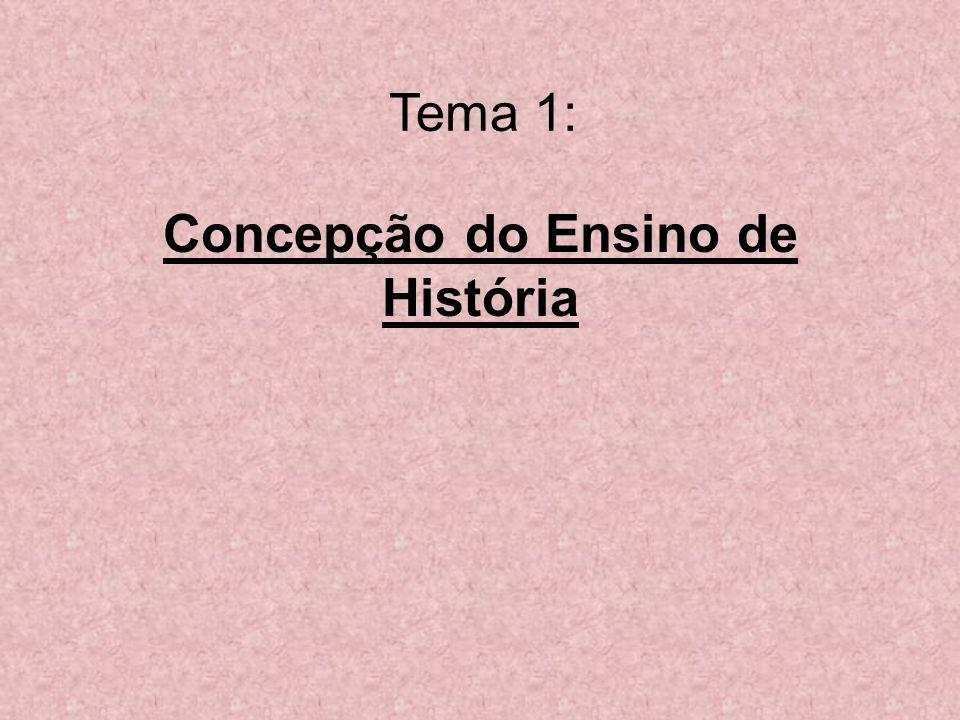 Tema 1: Concepção do Ensino de História