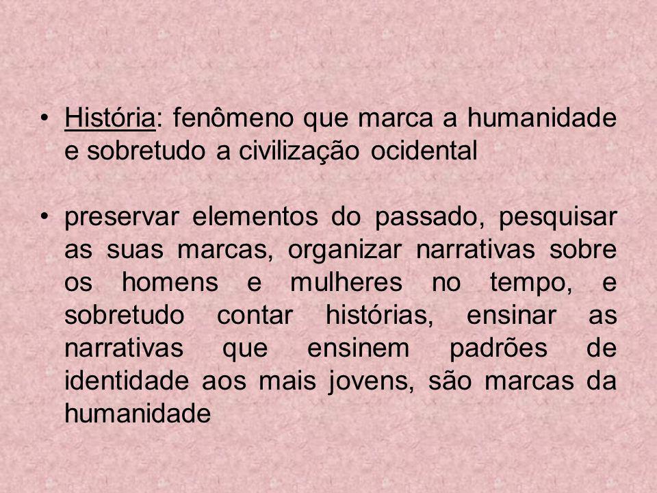 As transformações do ensino da História no Brasil CONTEÚDO Tendências atuais Recuperação da historicidade do conhecimento histórico.