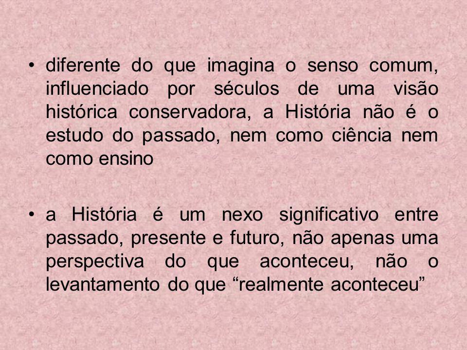 As transformações do ensino da História no Brasil VISÃO DA CIÊNCIA Ensino de estudos sociais Interdisciplinaridade das ciências sociais (História, Geografia, Antropologia e Sociologia).
