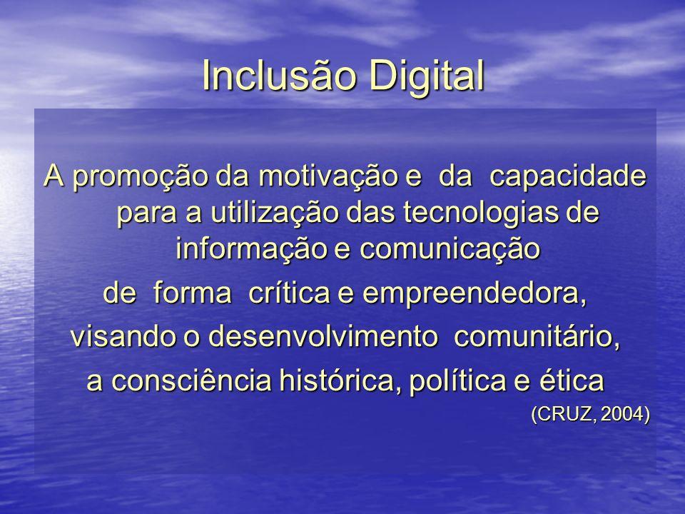 Inclusão Digital A promoção da motivação e da capacidade para a utilização das tecnologias de informação e comunicação de forma crítica e empreendedor