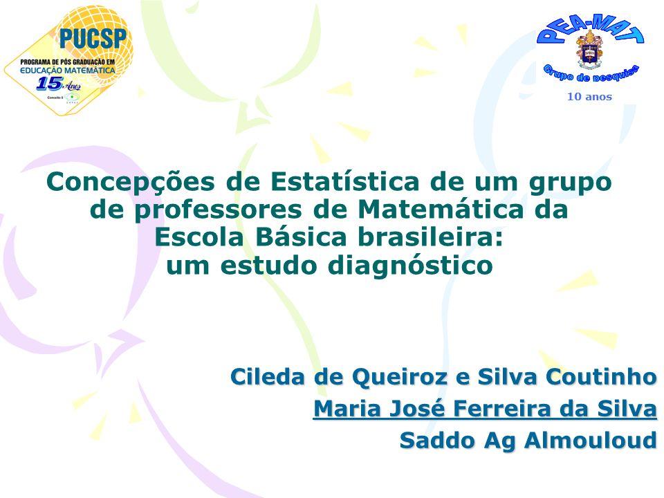 Concepções de Estatística de um grupo de professores de Matemática da Escola Básica brasileira: um estudo diagnóstico Cileda de Queiroz e Silva Coutin