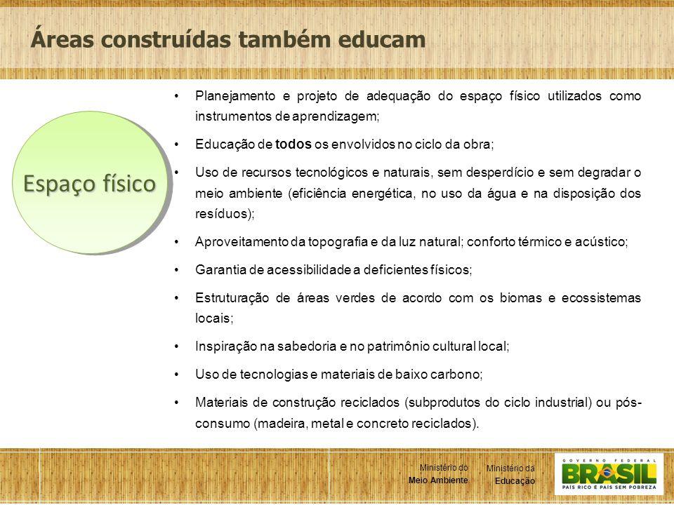 5 Ministério da Educação Ministério do Meio Ambiente Ministério da Educação Ministério do Meio Ambiente Planejamento e projeto de adequação do espaço