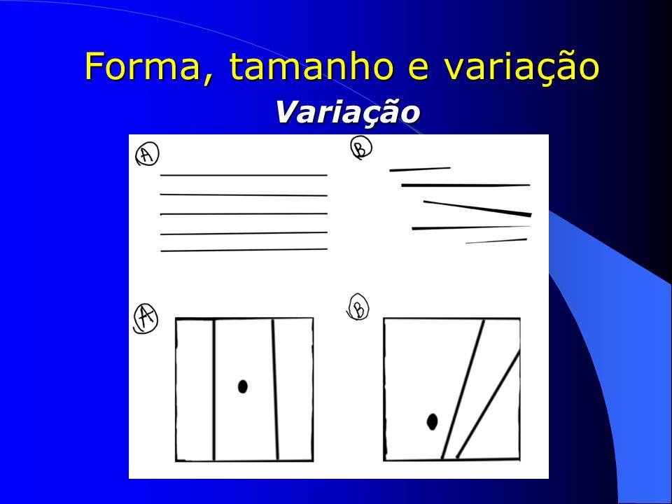 Forma, tamanho e variação Variação