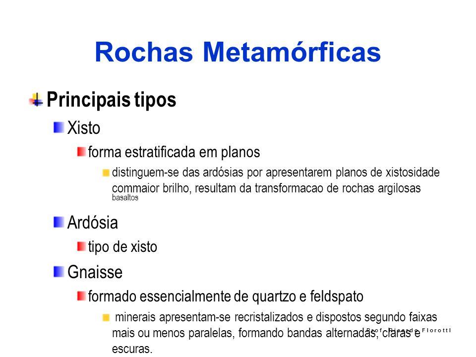 Rochas Metamórficas Principais tipos Xisto forma estratificada em planos distinguem-se das ardósias por apresentarem planos de xistosidade commaior br