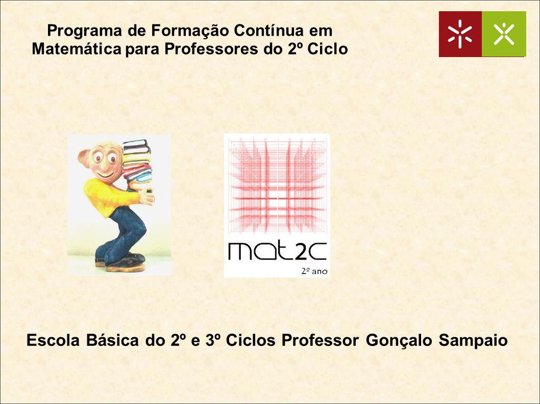 Programa de Formação Contínua em Matemática para Professores do 2º Ciclo Escola Básica do 2º e 3º Ciclos Professor Gonçalo Sampaio