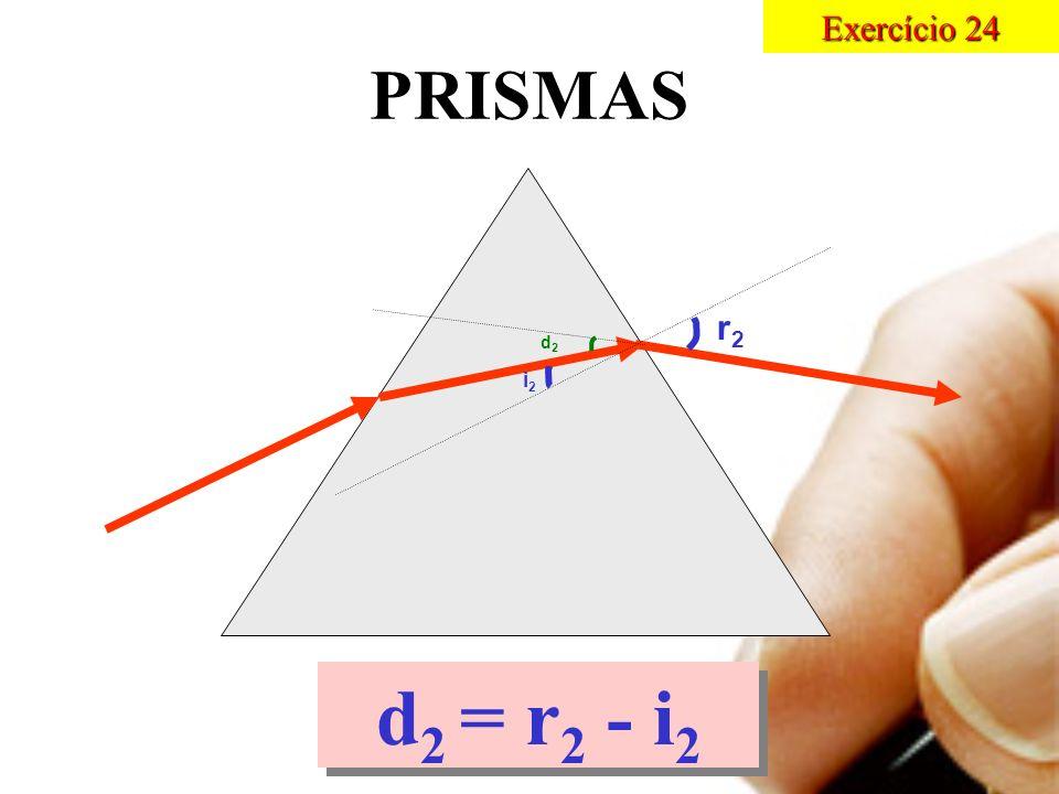 PRISMAS i2i2 r2r2 d2d2 d 2 = r 2 - i 2 Exercício 24