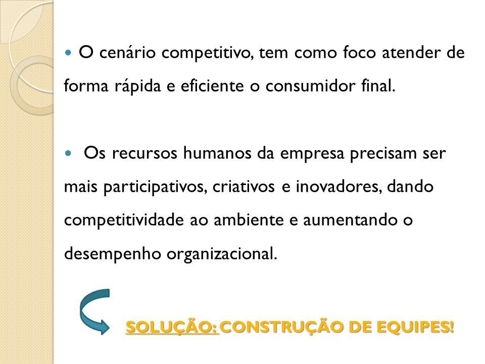 O cenário competitivo, tem como foco atender de forma rápida e eficiente o consumidor final. Os recursos humanos da empresa precisam ser mais particip