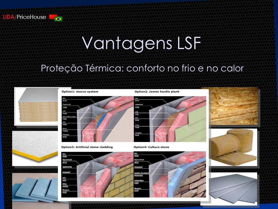 LIDA /PriceHouse Vantagens LSF Proteção Térmica: conforto no frio e no calor
