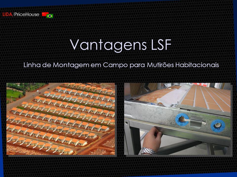 LIDA /PriceHouse Vantagens LSF Linha de Montagem em Campo para Mutirões Habitacionais