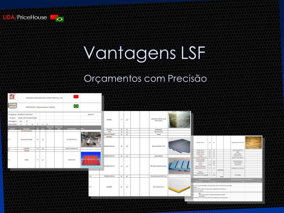 LIDA /PriceHouse Vantagens LSF Orçamentos com Precisão