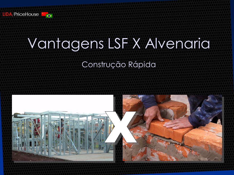 LIDA /PriceHouse Vantagens LSF Facilidade nos reparos, ampliações e manutenções futuras