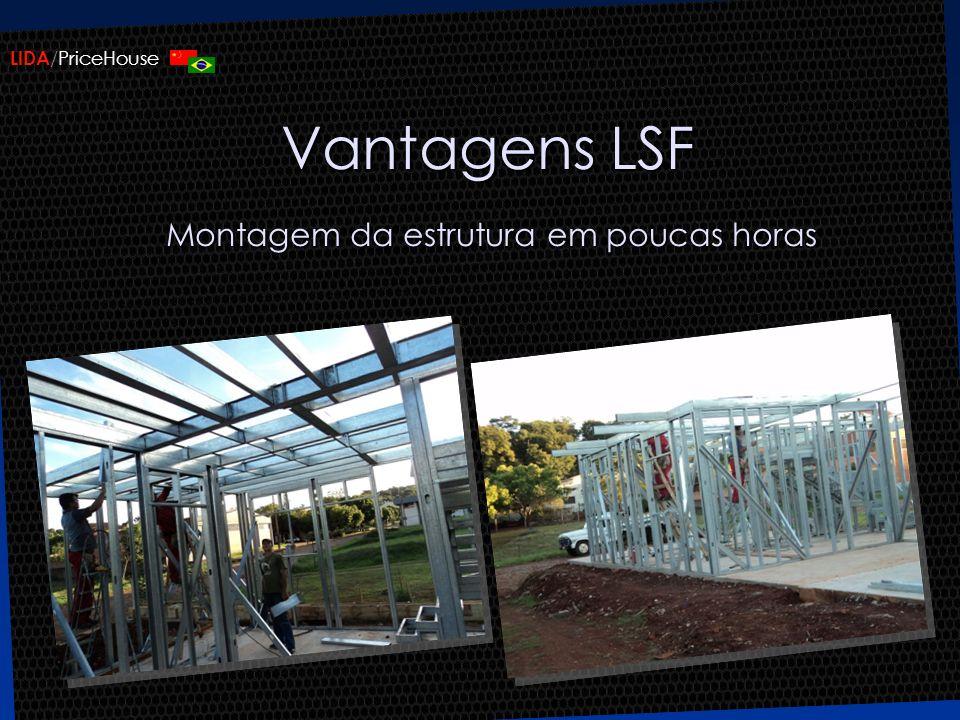 LIDA /PriceHouse Vantagens LSF Montagem da estrutura em poucas horas