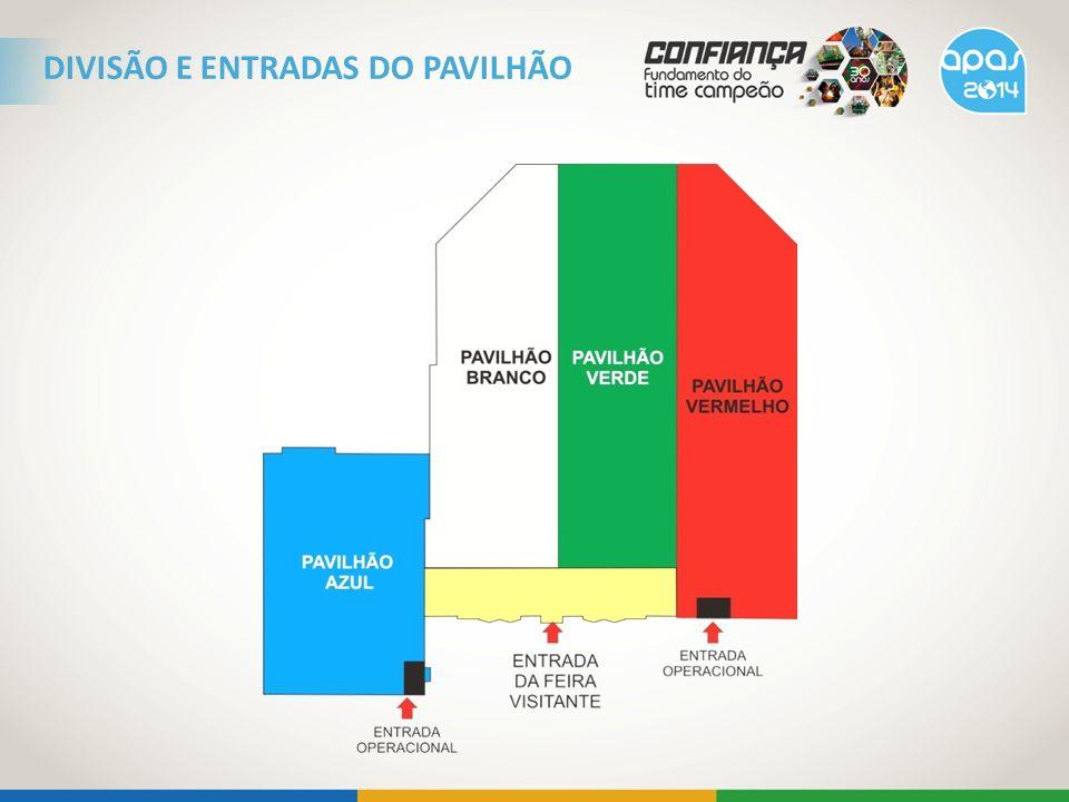 DIVISÃO E ENTRADAS DO PAVILHÃO