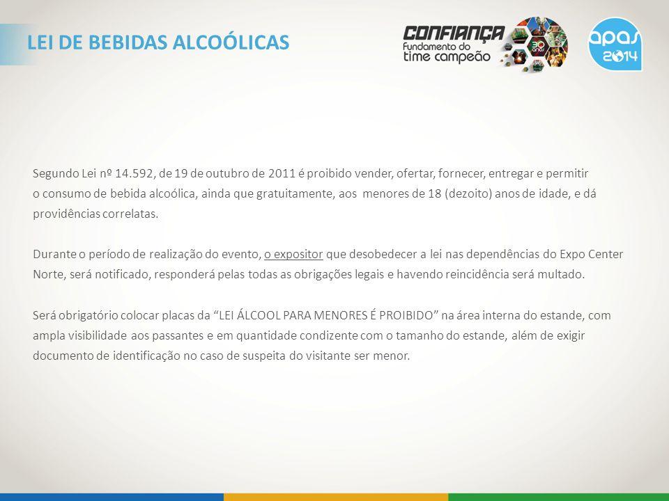 Segundo Lei nº 14.592, de 19 de outubro de 2011 é proibido vender, ofertar, fornecer, entregar e permitir o consumo de bebida alcoólica, ainda que gra