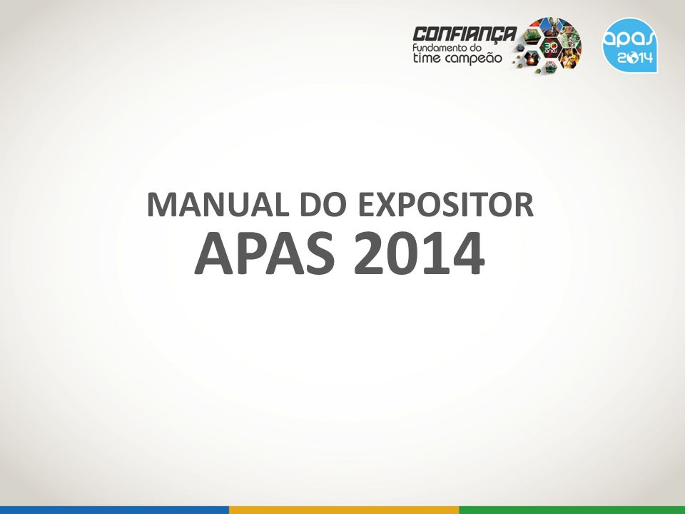 MANUAL DO EXPOSITOR APAS 2014