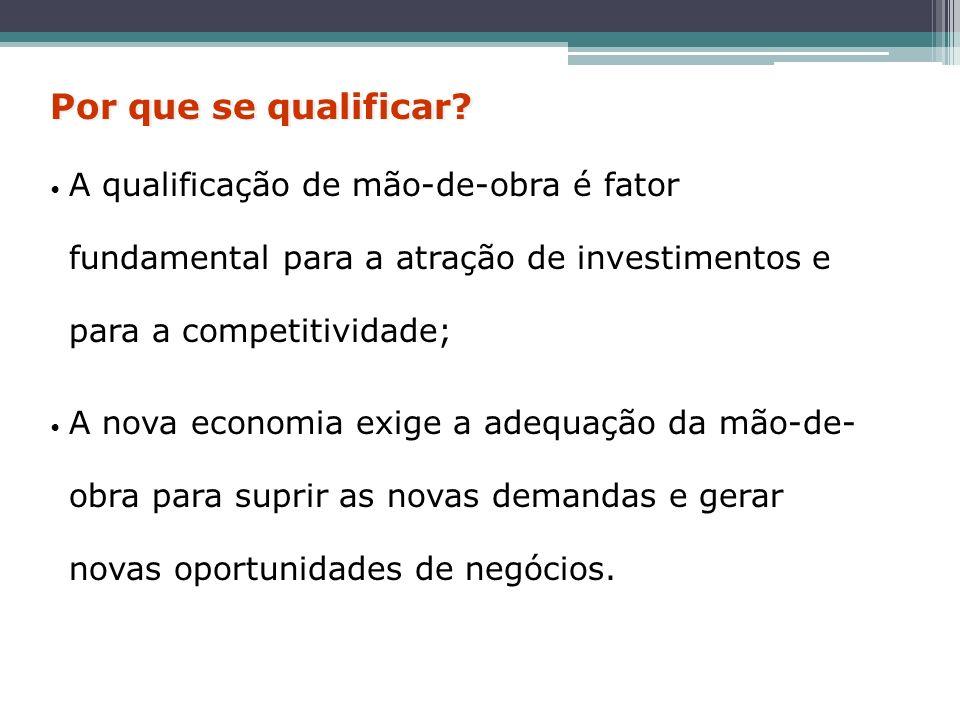 A qualificação de mão-de-obra é fator fundamental para a atração de investimentos e para a competitividade; A nova economia exige a adequação da mão-d
