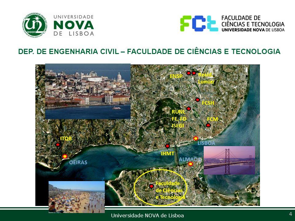 Universidade NOVA de Lisboa 4 OEIRAS LISBOA ALMADA ITQB IHMT Faculdade de Ciências e Tecnologia FCM ENSP Resid. Lumiar FCSH RUNL FE, FD ISEGI DEP. DE