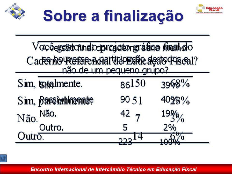 Encontro Internacional de Intercâmbio Técnico em Educação Fiscal Sobre a finalização